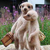Куклы и игрушки handmade. Livemaster - original item Meerkats. Handmade.
