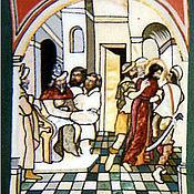 """Картины и панно ручной работы. Ярмарка Мастеров - ручная работа Текстильное панно """"Христос перед Пилатом"""". Handmade."""