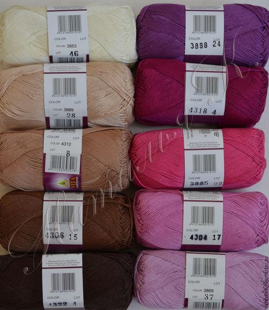 Вязание ручной работы. Ярмарка Мастеров - ручная работа. Купить пряжа сосо Vita cotton. Handmade. Белый, пряжа в мотках