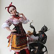Куклы и игрушки ручной работы. Ярмарка Мастеров - ручная работа Солоха и черт. Handmade.