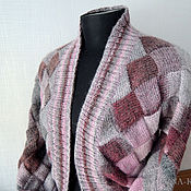 Одежда handmade. Livemaster - original item Jacket in knitted pink and Grey. Handmade.