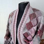 Одежда ручной работы. Ярмарка Мастеров - ручная работа Жакет вязаный Серо-розовый. Handmade.
