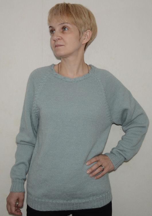 Кофты и свитера ручной работы. Ярмарка Мастеров - ручная работа. Купить Джемпер женский шерстяной. Handmade. Серый, джемпер женский