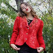 """Одежда ручной работы. Ярмарка Мастеров - ручная работа Валяный жакет """"Красный Прекрасный"""". Handmade."""