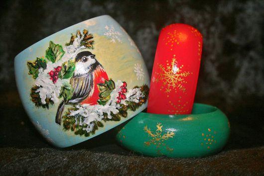 """Браслеты ручной работы. Ярмарка Мастеров - ручная работа. Купить """"Зимняя птичка""""+ браслет """"снежинки"""" в подарок. Handmade."""
