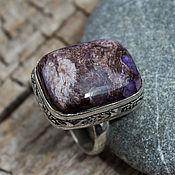 handmade. Livemaster - original item Ring with charoite