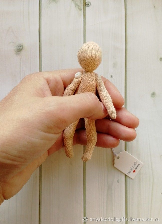 Blank doll 10 cm (3,94'), empty doll, Blanks for dolls and toys, Achinsk,  Фото №1