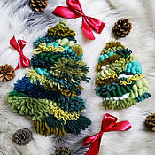 """Панно ручной работы. Ярмарка Мастеров - ручная работа Панно """"Новогодняя елка"""". Handmade."""
