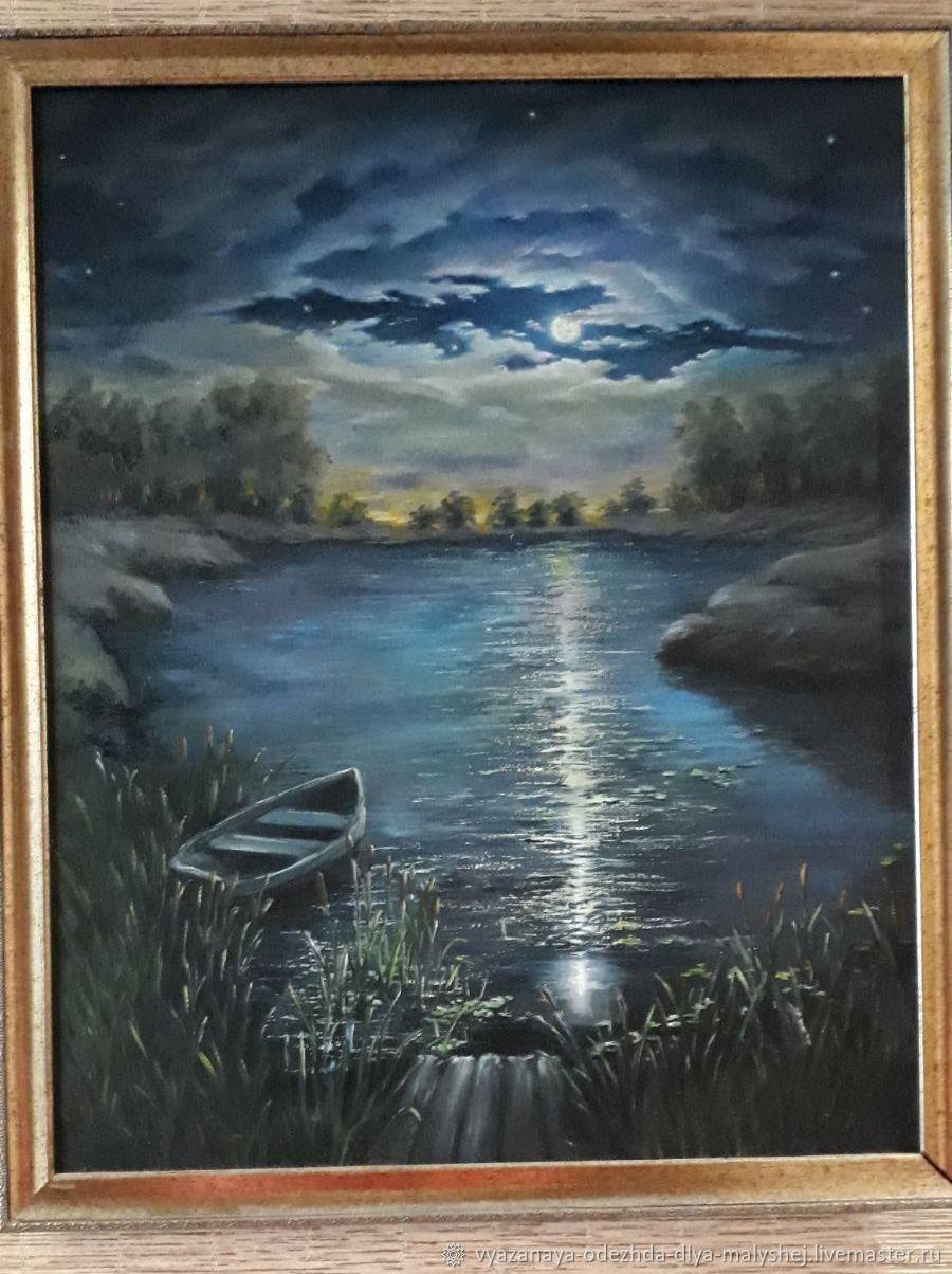 Лунная дорожка, Картины, Иваново,  Фото №1
