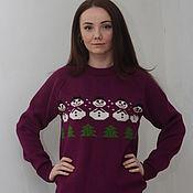 """Одежда ручной работы. Ярмарка Мастеров - ручная работа свитер вязаный  унисекс """"СНЕГОВИК"""". Handmade."""