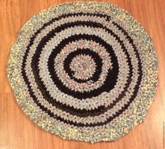 Текстиль, ковры ручной работы. Ярмарка Мастеров - ручная работа. Купить Голубой бабушкин коврик. Handmade. Коврик, деревенский стиль