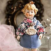 Куклы и игрушки ручной работы. Ярмарка Мастеров - ручная работа Куколка из антикварных деталей Диана. Handmade.