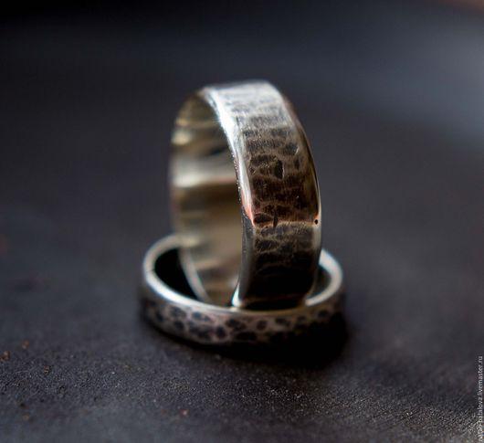 Кольца ручной работы. Ярмарка Мастеров - ручная работа. Купить Обручальные кольца серебро. Handmade. Серебряный, обручальные широкие