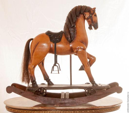 Винтажные предметы интерьера. Ярмарка Мастеров - ручная работа. Купить Лошадка деревянная большая Маренго лошадка качалка трансформер в конюш. Handmade.