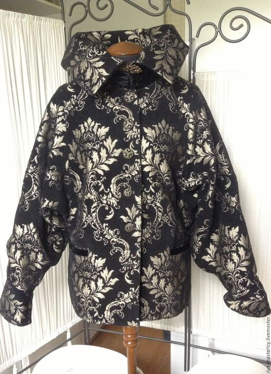 Верхняя одежда ручной работы. Ярмарка Мастеров - ручная работа. Купить Куртка Черный гранат. Handmade. Комбинированный