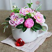Подарки на 8 марта ручной работы. Ярмарка Мастеров - ручная работа Букет #2 в керамической чаше (мыло ручной работы). Handmade.