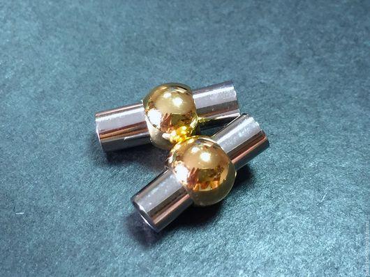 Для украшений ручной работы. Ярмарка Мастеров - ручная работа. Купить Замочек магнитный (диаметр трубки - 4 мм). Handmade.