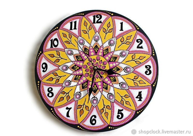 Wall clock Mandala Hand painted, Watch, Novosibirsk,  Фото №1