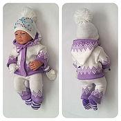 Одежда для кукол ручной работы. Ярмарка Мастеров - ручная работа Зимний комплект одежды для кукол Реборн. Handmade.