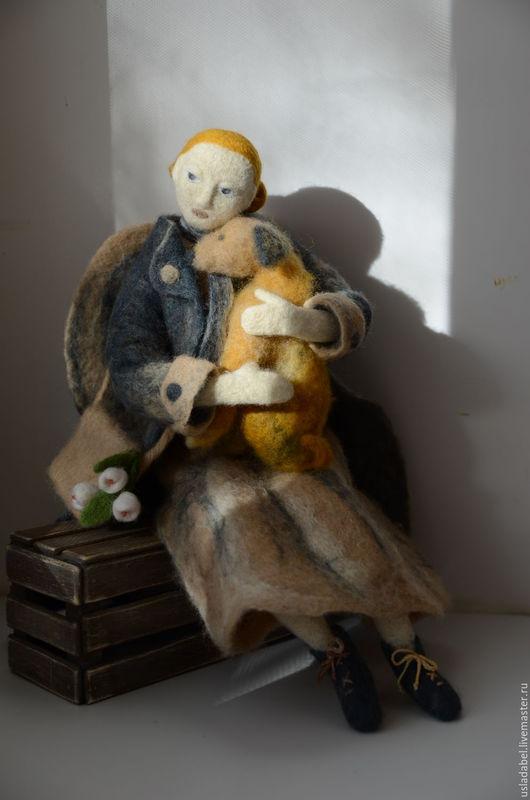 Городской ангел `Верность`. Интерьерная кукла.