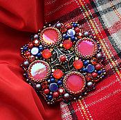 """Украшения handmade. Livemaster - original item Brooch with rhinestones and pearls """"Marion"""". Handmade."""
