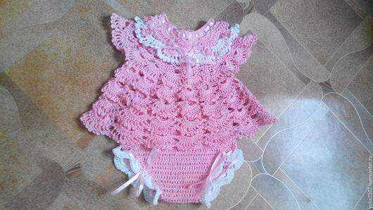 Одежда для девочек, ручной работы. Ярмарка Мастеров - ручная работа. Купить комплект ажурный для девочки крючком кофточка и трусики. Handmade.