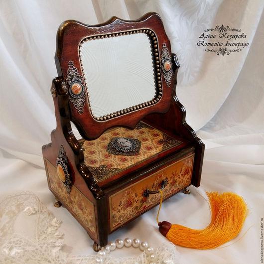 """Мини-комоды ручной работы. Ярмарка Мастеров - ручная работа. Купить Комодик с зеркалом """"Моя прелесть"""". Handmade. Комод, миникомодик"""