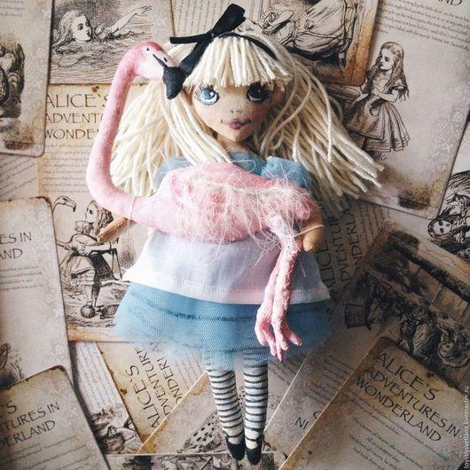 Ароматизированные куклы ручной работы. Ярмарка Мастеров - ручная работа. Купить Интерьерная игрушка Алиса в Стране чудес. Handmade. Голубой