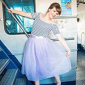 """Одежда ручной работы. Ярмарка Мастеров - ручная работа Фатиновая юбка """"Лаванда"""". Handmade."""
