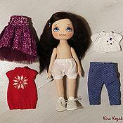 Куклы и игрушки ручной работы. Ярмарка Мастеров - ручная работа Кукла с набором одежды №3. Handmade.
