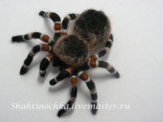 Brooches handmade. Livemaster - handmade. Buy Brooch 'Spider'.Brooch, handmade jewelry, felting on the frame, black, interior