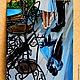 Город ручной работы. картина маслом СВИДАНИЕ. Юлия-Yulitaya. Интернет-магазин Ярмарка Мастеров. Девушка, Кафе, приятный подарок