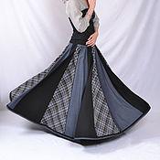 Одежда ручной работы. Ярмарка Мастеров - ручная работа Весенняя сине-серая18-клинка. Handmade.