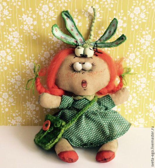 Коллекционные куклы ручной работы. Ярмарка Мастеров - ручная работа. Купить Авторская интерьерная кукла Нюша. Handmade.