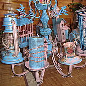 Для дома и интерьера ручной работы. Ярмарка Мастеров - ручная работа Садовый фонарь-кормушка для птиц. Handmade.