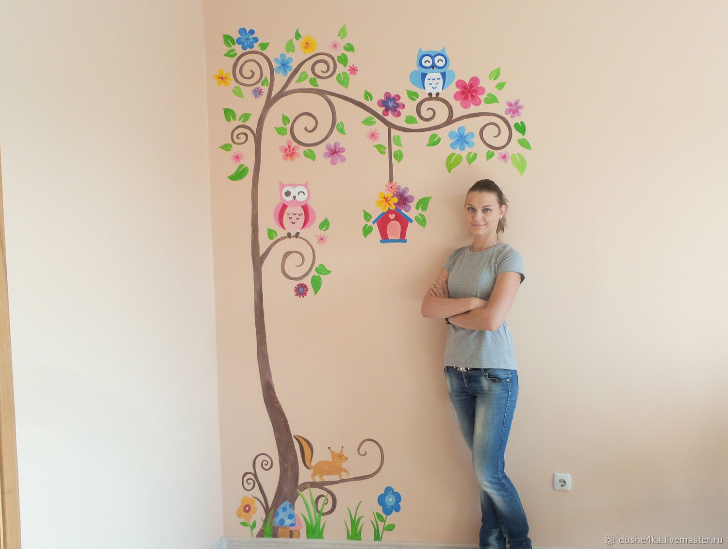 Painting the walls in the nursery Tree, Decor, St. Petersburg,  Фото №1