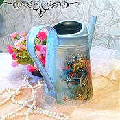 Цветы и флористика handmade. Livemaster - original item Decoupage watering can