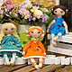 Текстильная кукла ручной работы. Ярмарка Мастеров - ручная работа. Купить текстильная кукла Лисичка. Handmade. Текстильная кукла