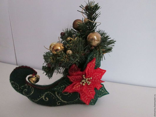 Новый год 2017 ручной работы. Ярмарка Мастеров - ручная работа. Купить Башмак тролля 2. Handmade. Разноцветный, подарки и сувениры