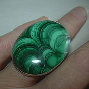 Украшения handmade. Livemaster - original item gorgeous malachite ring, large stone! 925 sterling silver.. Handmade.