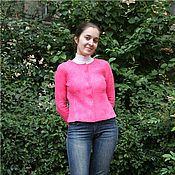 """Одежда ручной работы. Ярмарка Мастеров - ручная работа Жакет """"Розовый фламинго"""". Handmade."""
