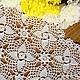 """Текстиль, ковры ручной работы. Ярмарка Мастеров - ручная работа. Купить Салфетка """"Лимонный зефир"""". Handmade. Лимонный, салфетка крючком"""