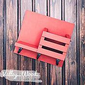 Для дома и интерьера handmade. Livemaster - original item Red wall-mounted housekeeper. Handmade.