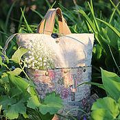 Классическая сумка ручной работы. Ярмарка Мастеров - ручная работа Рюкзак-сумка Романтический винтаж. Handmade.