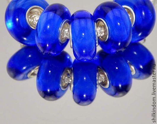 """Для украшений ручной работы. Ярмарка Мастеров - ручная работа. Купить Шарм """"Синева"""" с серебром 925 пробы. Handmade."""