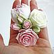 Свадебные украшения ручной работы. Пионы и розы для прически из полимерной глины. Юлия Шепелева Lovely Flowers Lab. Интернет-магазин Ярмарка Мастеров.