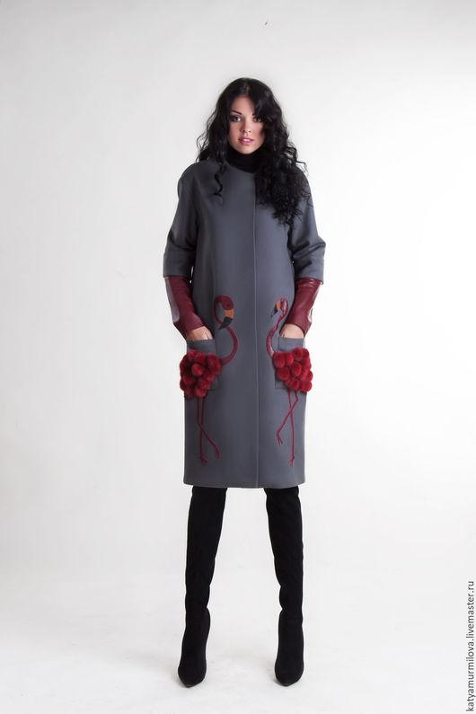 Верхняя одежда ручной работы. Ярмарка Мастеров - ручная работа. Купить Авторское пальто из шерсти. Handmade. Серый, пальто