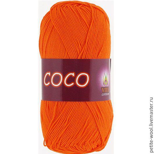Вязание ручной работы. Ярмарка Мастеров - ручная работа. Купить Пряжа COCO Vita cotton 100% мерсеризованный хлопок Коко Вита коттон. Handmade.