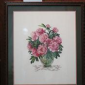 """Картины и панно ручной работы. Ярмарка Мастеров - ручная работа Букет """"Пионы"""". Handmade."""