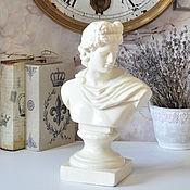 Для дома и интерьера handmade. Livemaster - original item Statuette of concrete bust of Apollo decor for home and garden. Handmade.